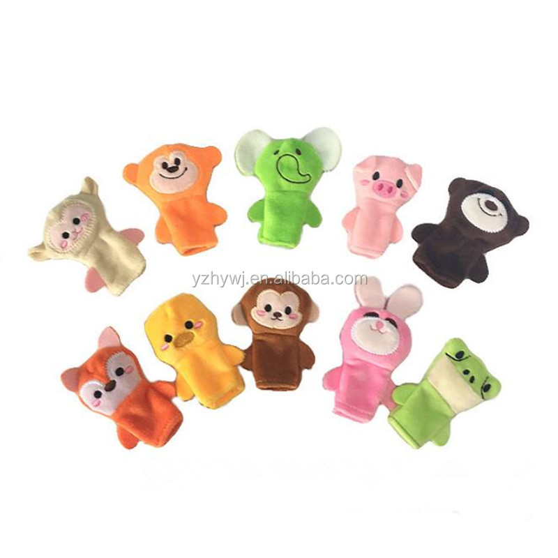 new design custom animal shape baby plush toy finger puppet