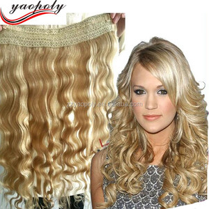human hair extension 20 inch invisible hair extension halo hair extension fish line