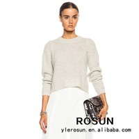 New arrival short body long sleeve women sweater nude korean girl