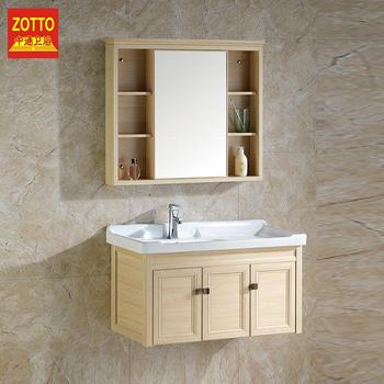 Aluminium Wall Mounted Bath Bathroom Toilet Modern Washroom Vanity Sink Cabinet With Mirror Custom