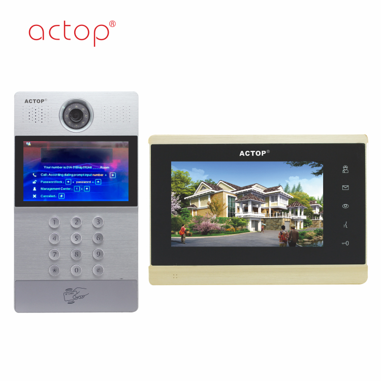 Actop Color Tcp/ip Video Door Phone For Apartments Retail Security Products  - Buy Color Tcp/ip Video Door Phone,Tcp/ip Video Door Phone,Tcp/ip Video