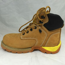 New Style Factory Outdoor Middle Cut Brown Nubuck Safety Boots RL-069