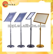 metal sign frame a3 a4 floor stand for hotel lobby display board