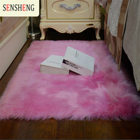 Super Area Rugs Soft Faux Fur Fake Sheepskin Pink For Sofa Couch Stool Chair