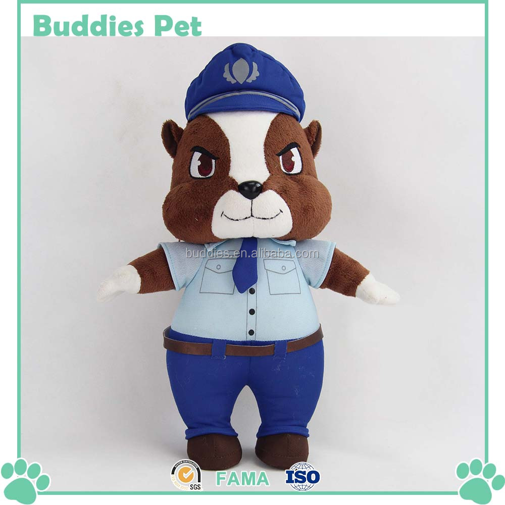 plush squirrel in police uniform embroidery kids plush toy buy
