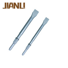 High quality 40Cr hex shank round shaft flat air/ pneumatic hammer moil point chisel bit, corner chisel