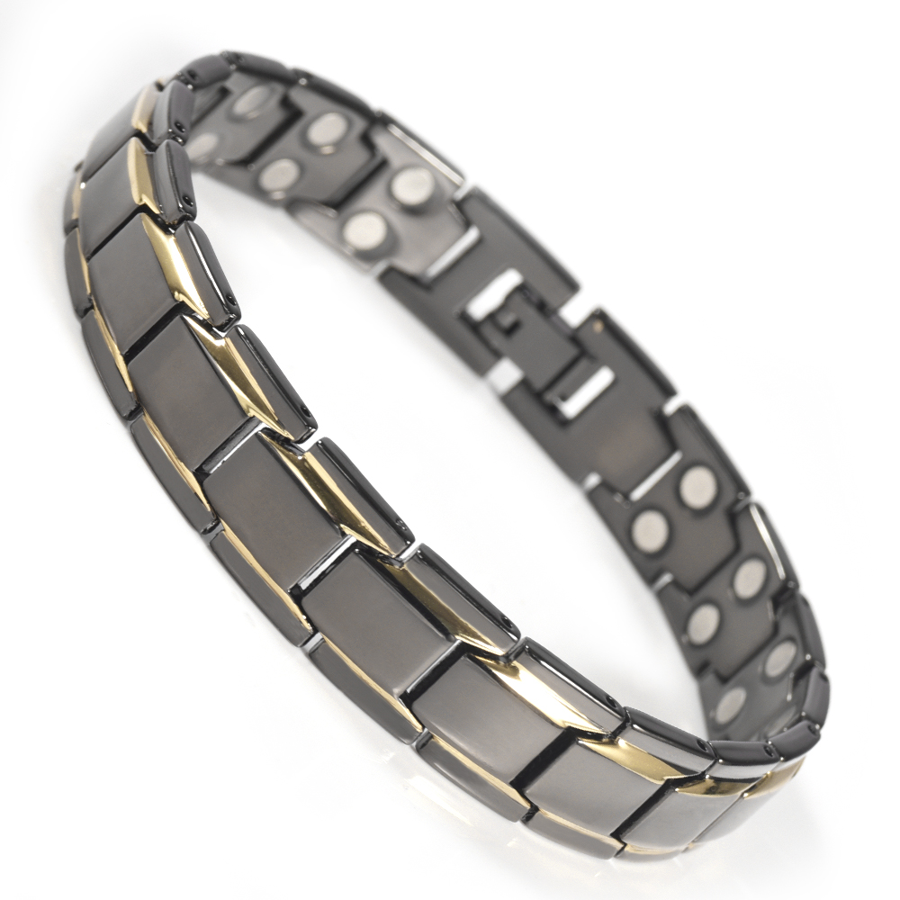 Wollet Hot Product Cool Men Metal Double Neodymium Bio <strong>Magnetic</strong> <strong>Energy</strong> Power <strong>Bracelet</strong>