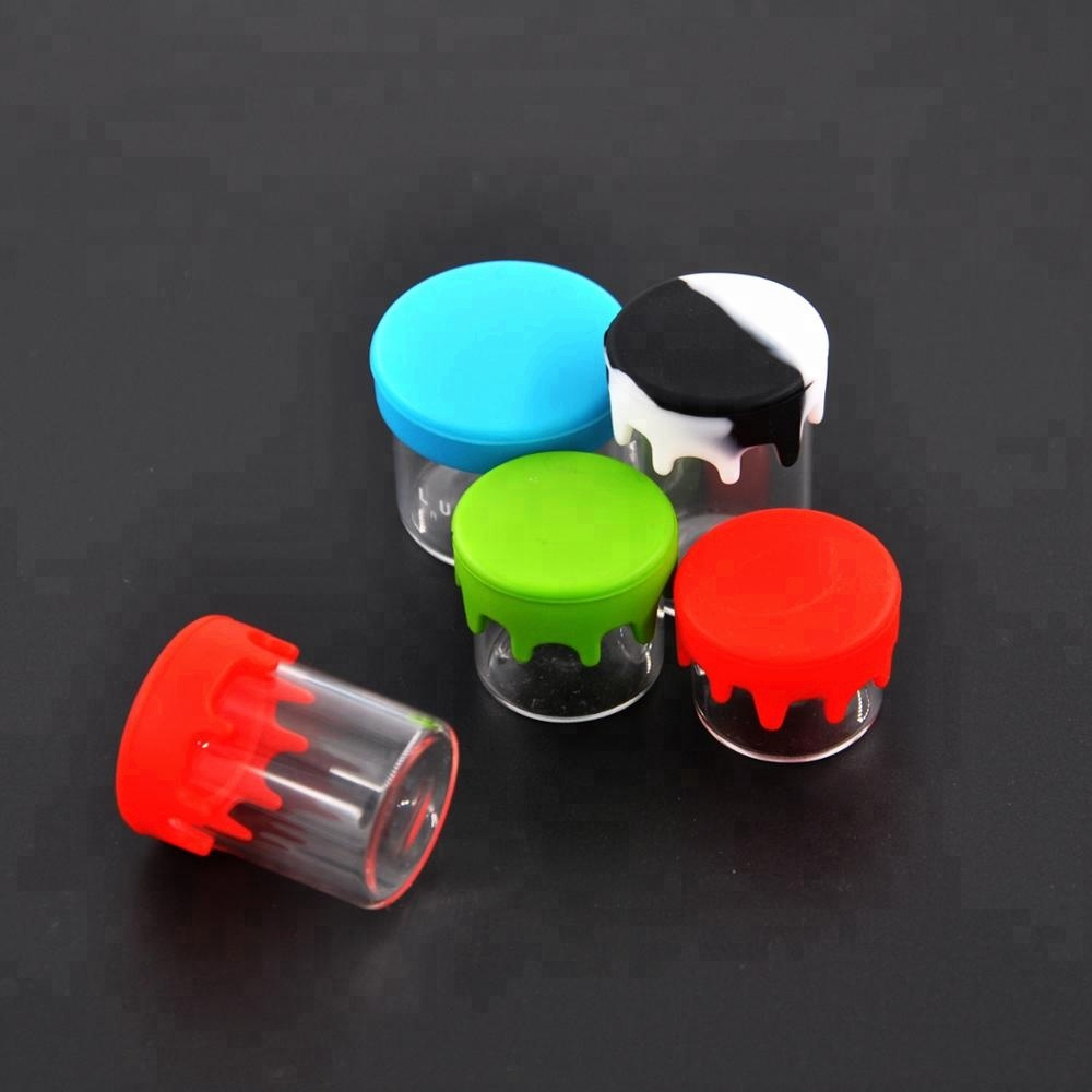 8 large silicone containers. Non stick Wax containers..11 ML multi colored