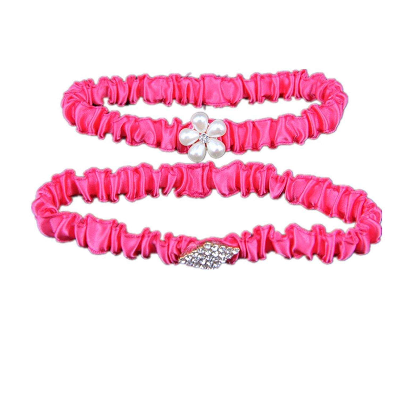 b70b39e08b4 Get Quotations · TRLYC Rhinestone Red Ribbon Garter Set Crystal Wedding  Garter Bridal Garter Belt Accessories