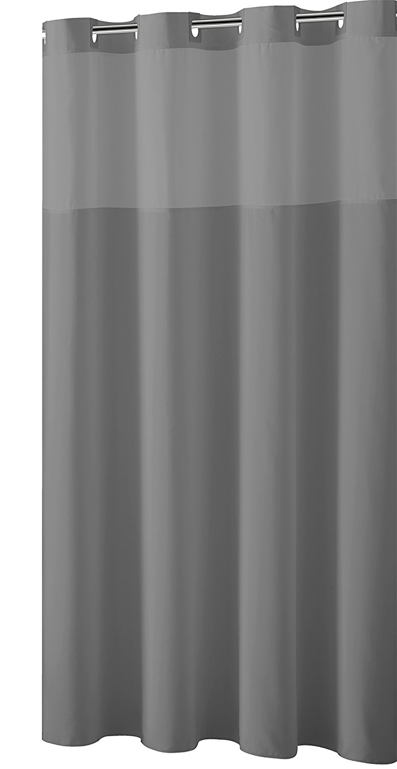 liner curtain pcs sheer long fabric white shower extra
