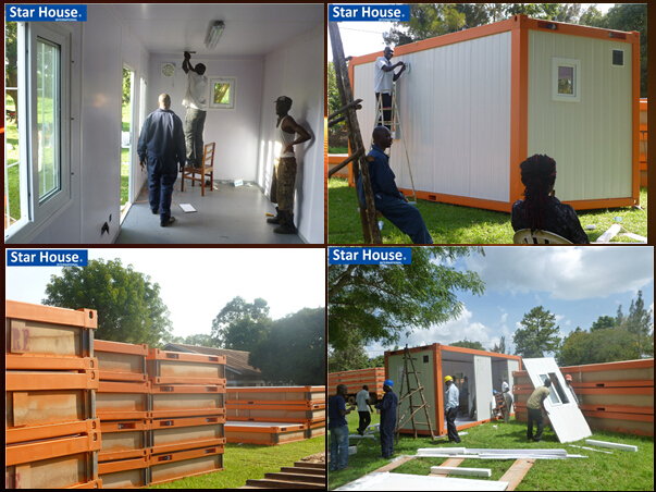 low cost prefab moveable 20ft container house with CE certificate