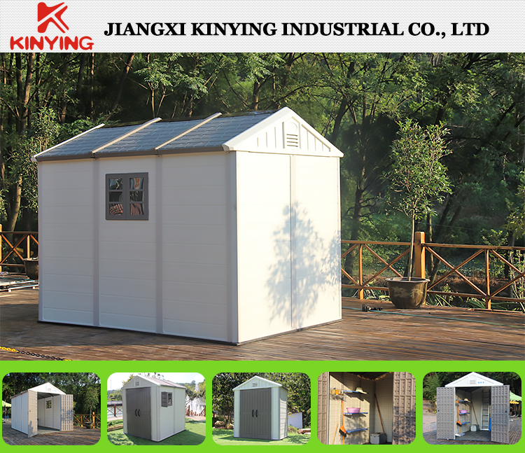Kinying Brand 2017 Latest Plastic Garden Shed For Storage Easy