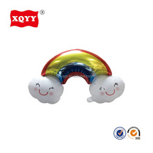 Middle size rainbow and clouds shaped helium foil balloons delivered