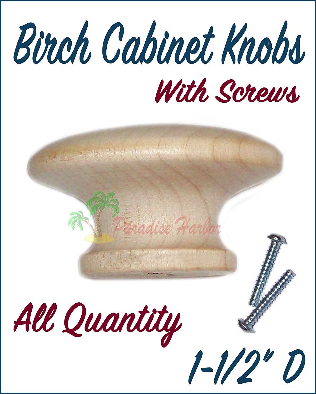 "BDHardwareHouse 10 Pcs 1-1/2"" Birch Cabinet Knob Unfinished Birch Round Knobs for Cabinets Unfinished Drawer Knobs Unfinished Wood Knob Wooden Knobs Cabinet Knobs"
