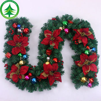 xibao brand china new style wholesale christmas wreath decorations red rattan wreaths cheap sale - Christmas Wreath Decorations Wholesale