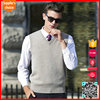 Hot selling fashion knitted sheep wool vest v-neck wool vest for mens