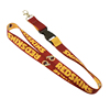 Custom polyester lanyards sublimation bulk cheap nfl lanyard with carabiner hook no minimum order