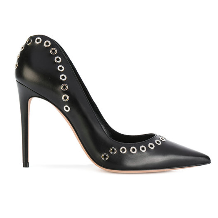 shoes New dress women fashion pumps high embellished heels eyelet wfxSwzqB