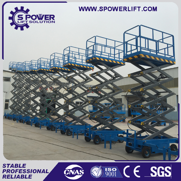 Spower best sale mobile lift table uesd for maintenance raerial work platform
