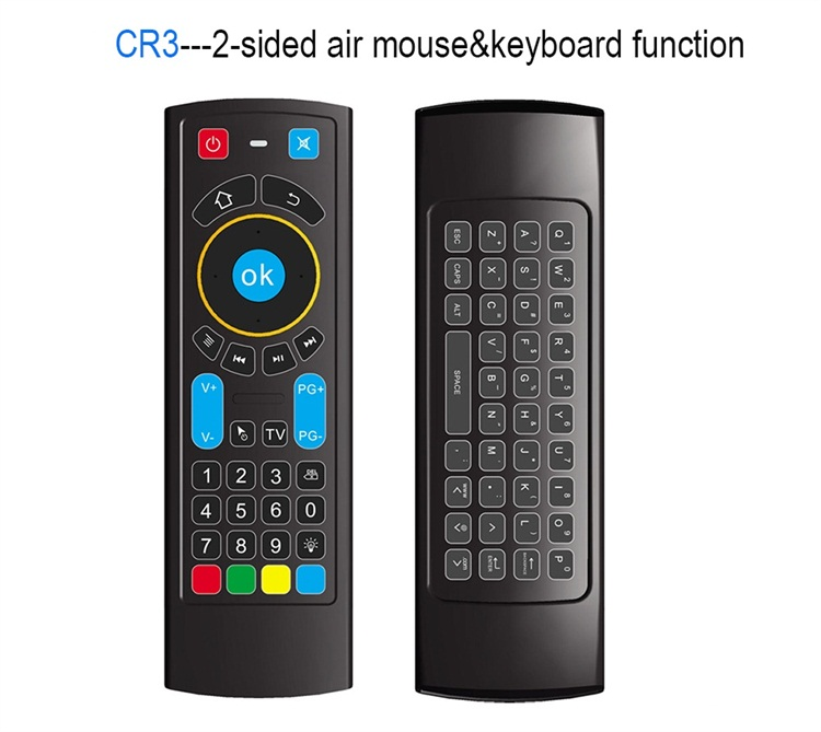 CR3 2.4G RF BT 6-Axis long distance programmable smart tv universal keyboard remote control