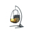 Good Quality Indoor Outdoor Rattan Hanging Swing Egg Chair With Stand