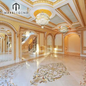 Prefab Splendid Floor Pattern Water Jet Marble Flooring Border Designs For Hall
