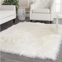 Wholesale OEM service faux sheepskin shaggy fur carpet plush faux fur rug