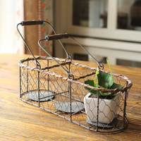 cheap handmade wrought iron wall candle holder