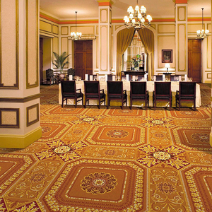 Luxury Fireproof Wool Hotel Axminster carpet casino Banquet Hall Wall to Wall carpet