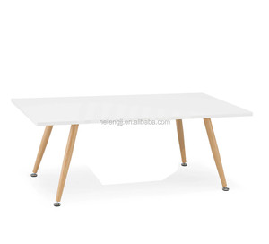 MDF Top Sofa Table with wood color legs
