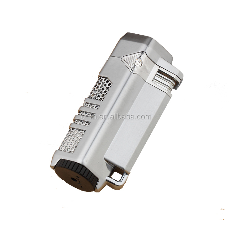 High Quality Metal 3 Jet Flame Windproof Torch Oil Lighter