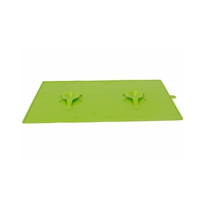 Wholesale anti-slip odorless silicone waterproof bowl placement pet mat pad