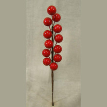 Artificial Berry Pick Branches in Red for Holiday Decorating Decorative Flowers And Wreaths