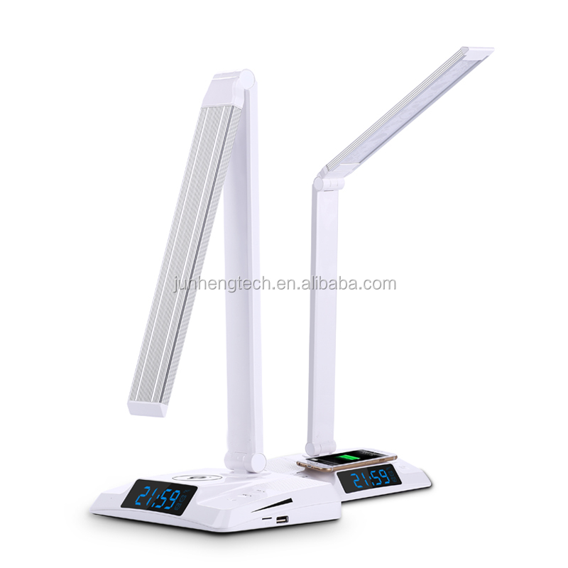 Wireless Charging LED Desk Lamp Built-in Bluetooth Speaker and USB Charging