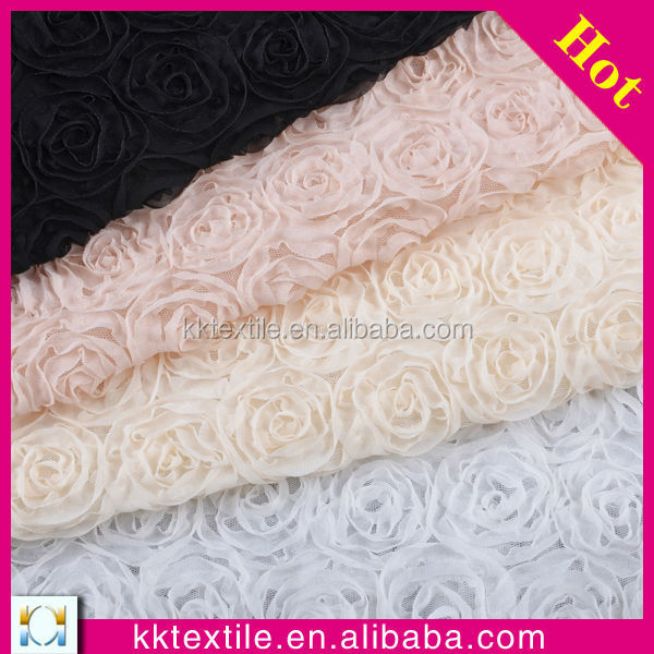 New Fashion Ribbon Work Hand Embroidery Fabric Designs