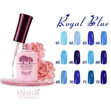 Royal Blue Series for 12 pcs Inail UV Gel polish 15ml 12 colors to choose