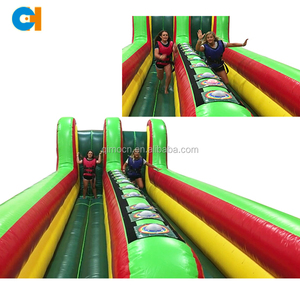 Popular Inflatable Challenging interactive games inflatable interactive play system bungee jump runway lane for kids and adults