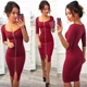 Women Dress Fashion Knee-Length Sexy Party Office Wear