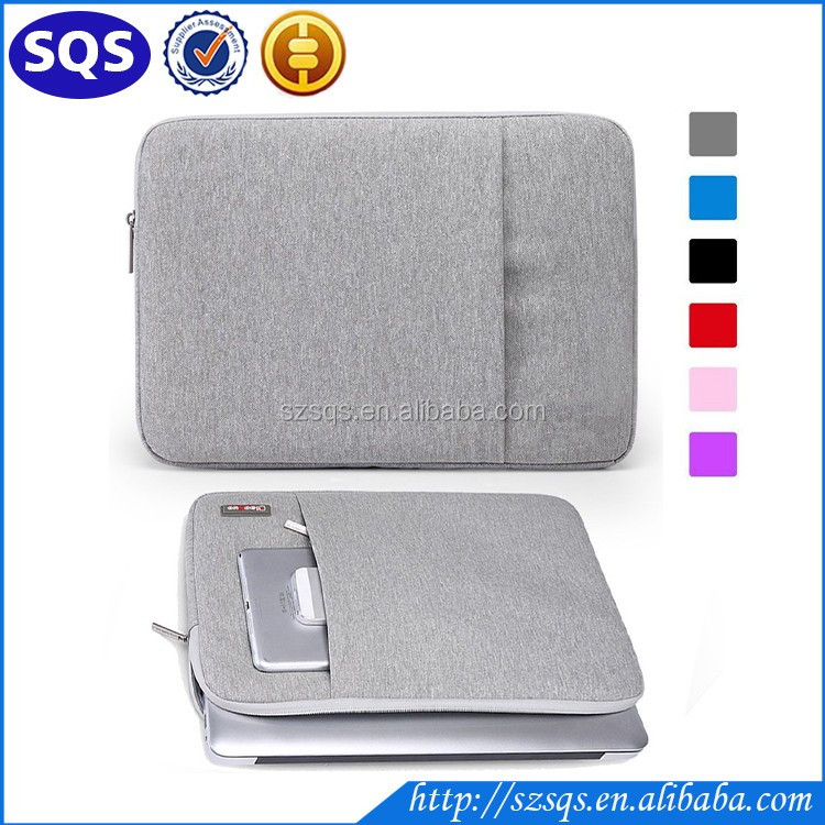 15-15.4 Inch Waterproof Fabric Laptop Sleeve / Notebook Laptop Bag Case for Apple MacBook Pro