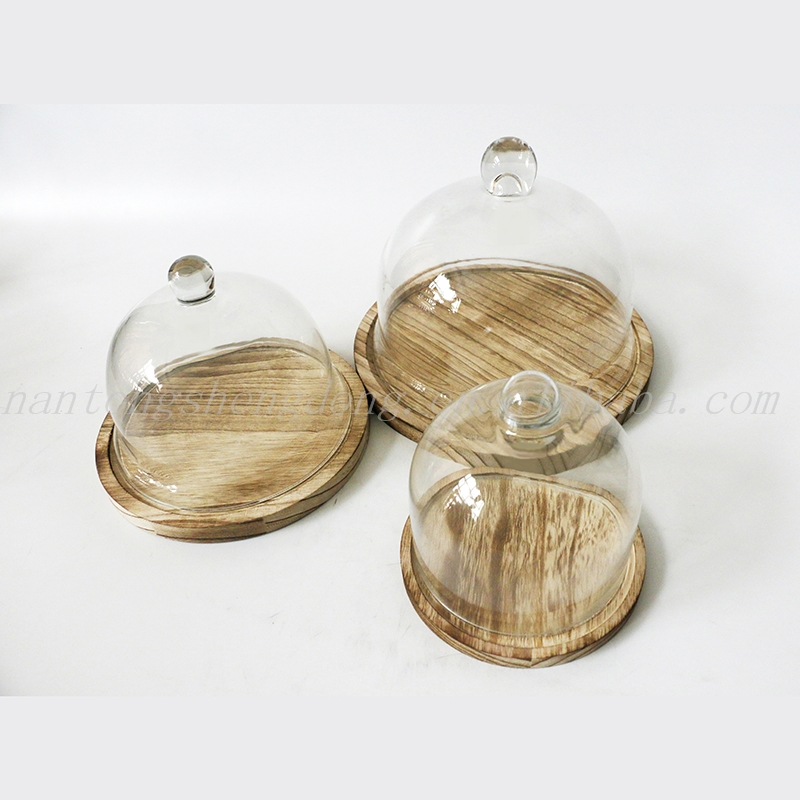 glass dome cake cover covered wooden cake stands