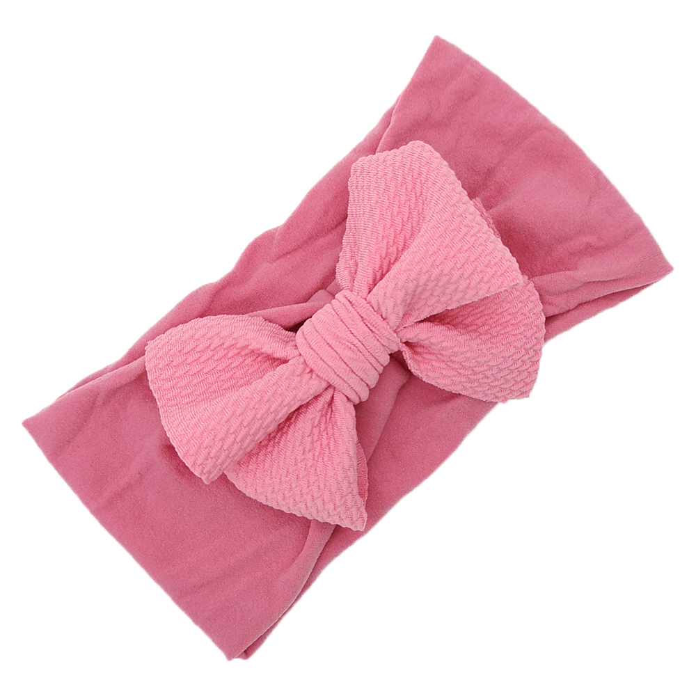 Artificial Baby Nylon Soft Headband with Fabric Bows Infant Baby Elastic Headwrap Baby Unique Hair Accessories