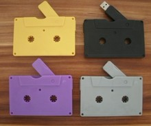 free shipping in stock special novelty plastic Audio Tape usb 2.0 flash memory usb stick 64gb