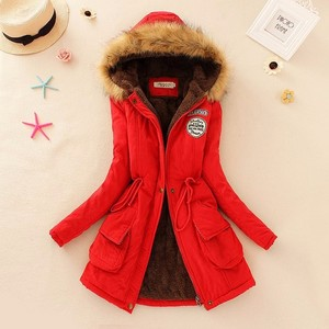 Fashion Autumn Warm Winter Jackets Women Fur Collar Long Parka Plus Size Hoodies Cotton Outwear