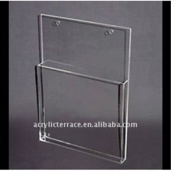 Clear Acrylic Slat Wall Magazine Holderlucite Slat Wall Magazine New Lucite Magazine Holder