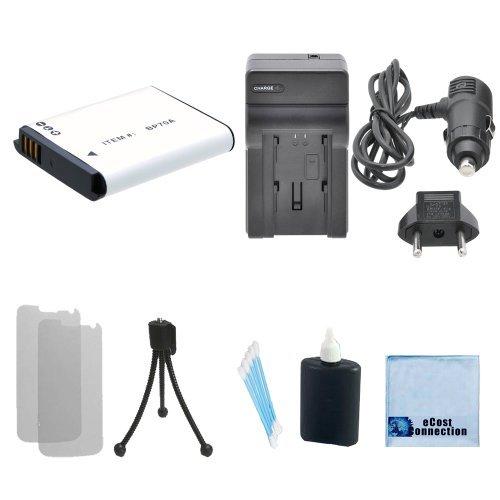 BP-70A High-Capacity Battery + Car/Home Charger For Samsung MV Series MV800, Samsung PL Series, PL20, PL80, PL81, PL90, PL100, PL101, PL120, PL170, PL200, PL201, Samsung SL Series, SL50, SL600, SL605, SL630 & More.. Camcorder + Complete Starter Kit