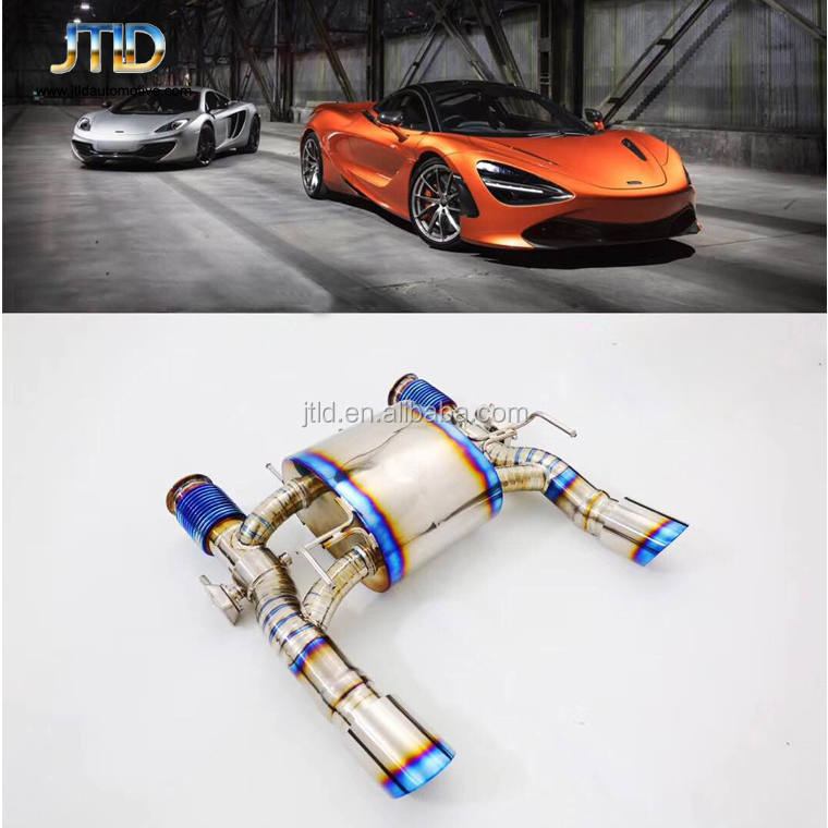 performance Exhaust System titanium exhaust Catback with remote control for McLaren 720s
