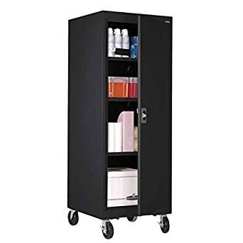 Sandusky Lee TA3R242460-09 Transport Series Mobile Storage Cabinet, Black