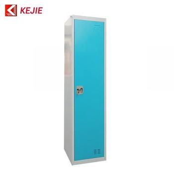 Dubai Hot Used Steel Cabinet Clothes Locker Single Door Metal Closet Wardrobe Fireproof Clothing Cabinets
