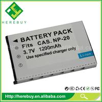 3.7V 550mAh Digital Camera Li-ion Battery NP20 for Casio Exilim EX-M1 EX-M2 EX-M20 EX-M20U EX-S1 EX-S100