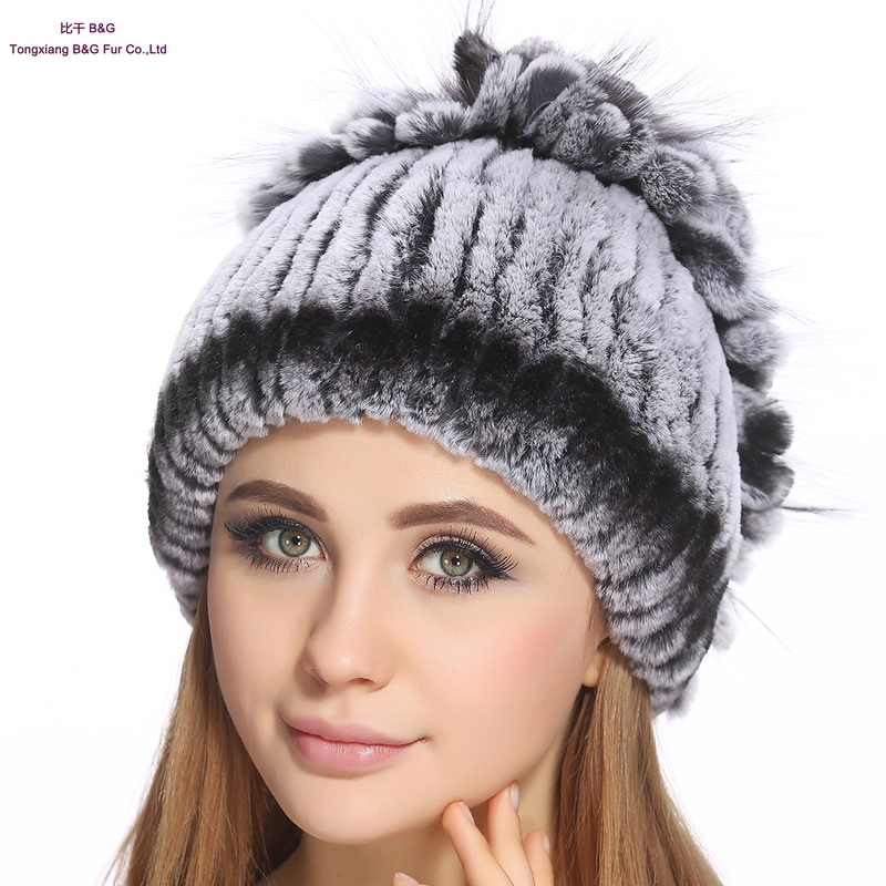 94e419bd65d Get Quotations · 100% real rex rabbit fur hats for women winter warm real fur  beanies 2015 new